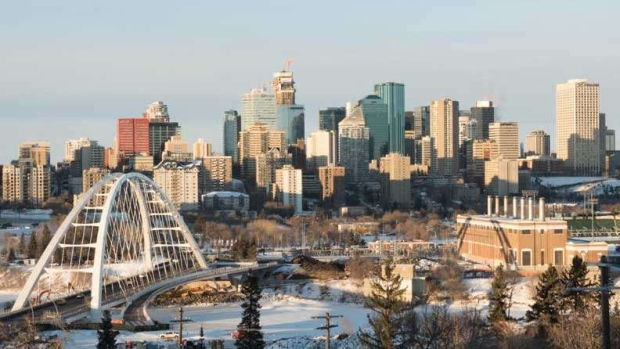 The Edmonton skyline