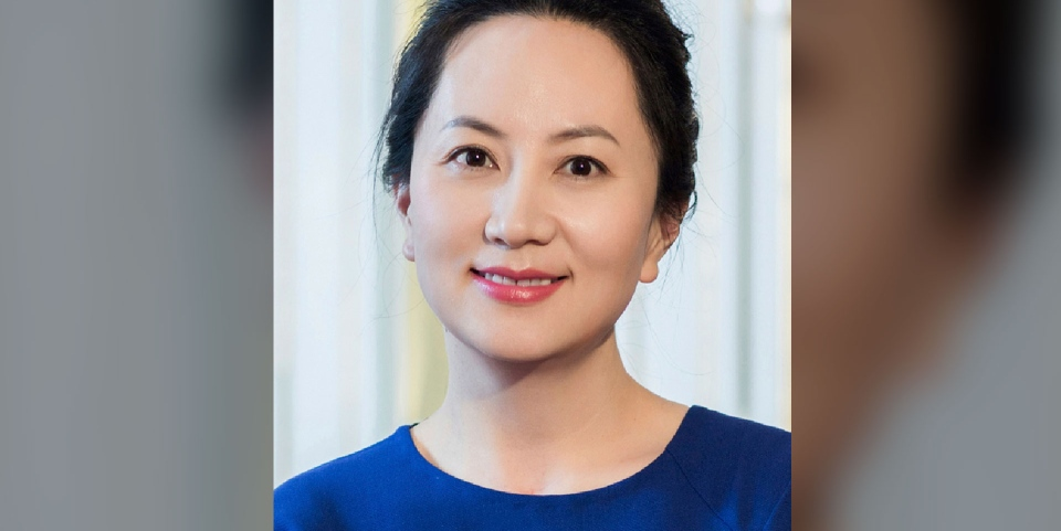 In this undated photo released by Huawei, Huawei's chief financial officer Meng Wanzhou is seen in a portrait photo. (Huawei via AP)