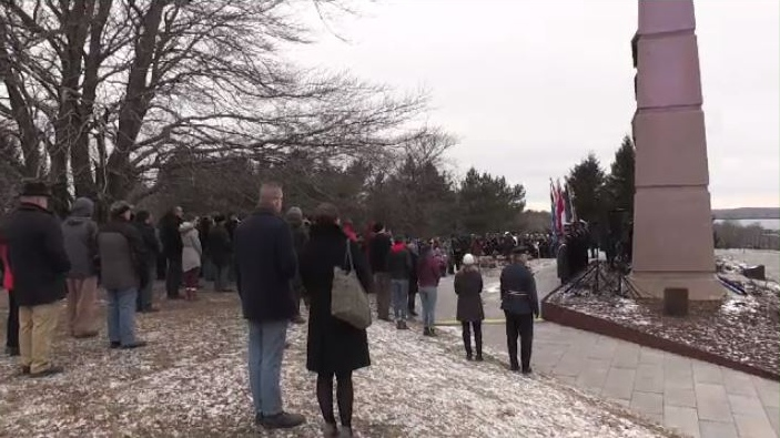 Thursday morning, hundreds gathered at Fort Needham Memorial Park to remember those who lost their lives in the Halifax Explosion on Dec. 6, 1917.