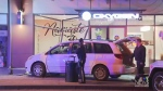 Minivan smashes into yoga studio