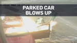 Police looking for 3 suspects after car explodes