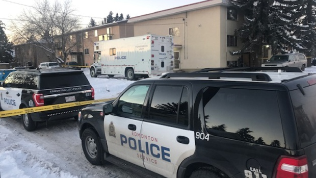 Investigators were on scene Thursday at an apartment where two children were found dead.