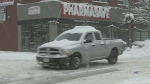 Heavy snow squalls in Muskoka bring the area to a