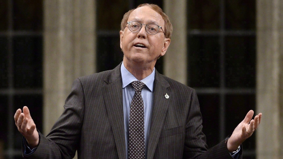 NDP MP Murray Rankin asks a question during Question Period in the House of Commons on Parliament Hill, Friday, Feb. 10, 2017 in Ottawa. (THE CANADIAN PRESS/Justin Tang)