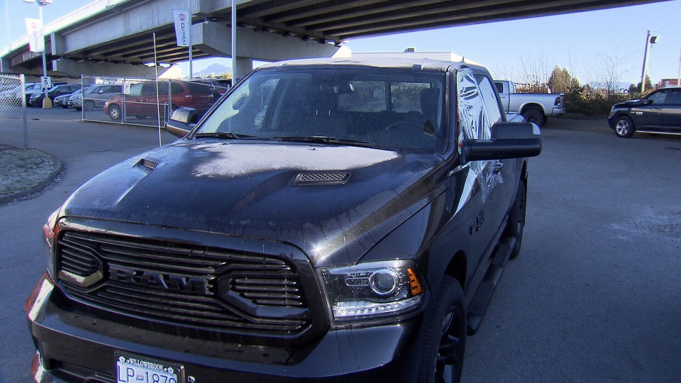 Paul Bennett's truck is pictured.