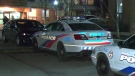 Police investigate a stabbing in an underground parking garage in the area of Main Street and Danforth Avenue Thursday December 6, 2018.