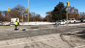 Cyclist killed in collision involving a taxi on Sir John A. MacDonald Parkway.
