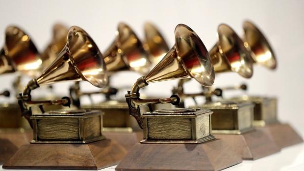 Grammy Awards on display
