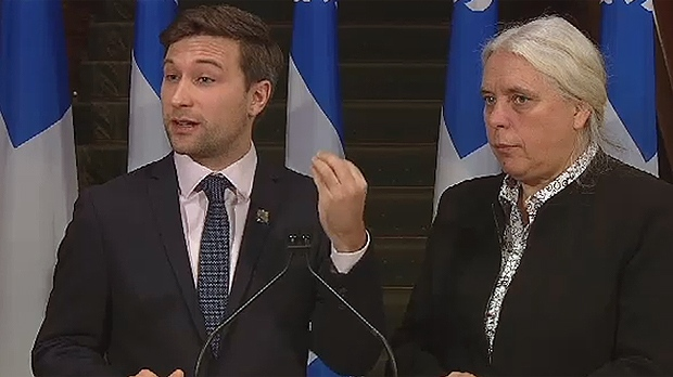 Gabriel Nadeau-Dubois and Manon Massé, co-spokespeople for Quebec Solidaire, said they have been able to force Quebec politicians to be concerned about the environment (Dec. 11, 2018)