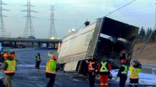 Crash on Highway 401