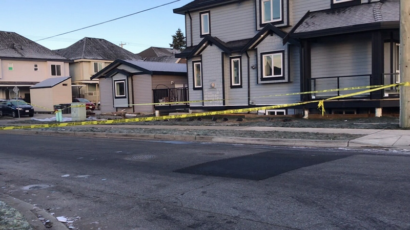 Homicide investigators have been called in after a body was found inside a home on 144A Street in Surrey early Friday morning.