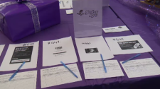A silent auction to help family in need