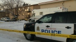 Edmonton apartment building where two children were found dead.