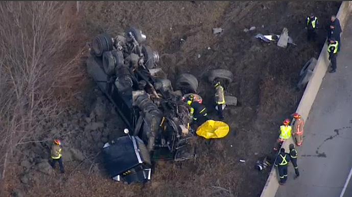 """A crash on the westbound Gardiner near Highway 427 ramp will cause """"several hours"""" of delays, police say."""