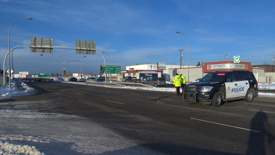 A 26-year-old man is dead after he was hit by a truck on the Yellowhead Friday morning.
