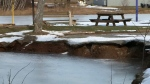 Sinkhole can't dampen spirits in Oxford