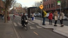 The city is seeking to dismiss a human rights complaint about how bike lanes affect blind people leaving bus stops in downtown Victoria. Dec. 7, 2018. (CTV Vancouver Island)