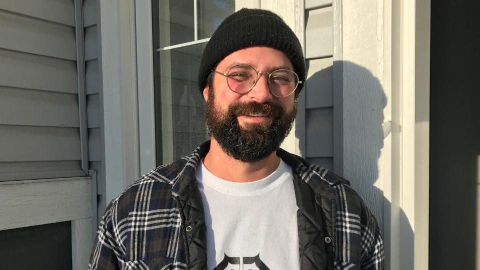Brandon Linn says he has dealt with water issues in his Aspen Ridge home. (Saron Fanel/CTV Saskatoon)