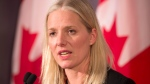 Minister of Environment and Climate Change Catherine McKenna answers questions after meetings in Toronto on Thursday, December 6, 2018. THE CANADIAN PRESS/Frank Gunn