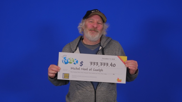 Michel Noel guelph lottomax maxmillions