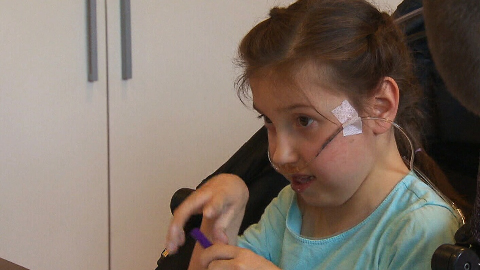 Young McKayla Warder has hypoplastic left heart syndrome, a birth defect that affects normal blood flow through the heart. (CTV)