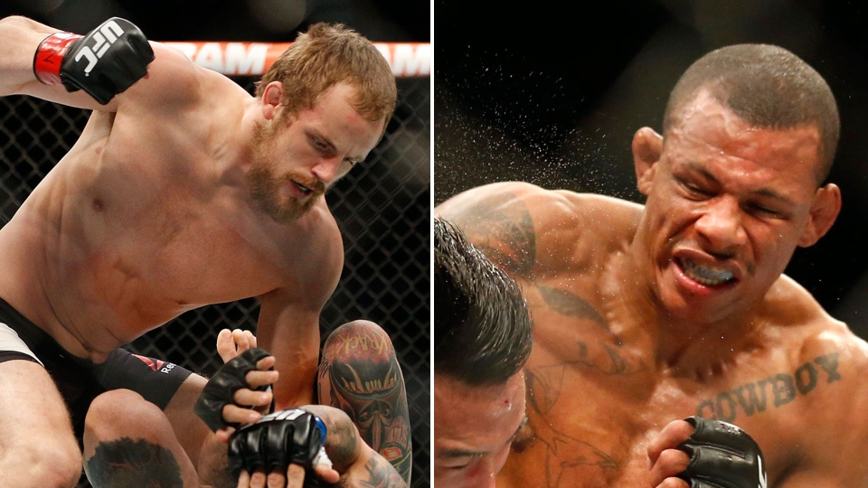 Alex Oliveira (right) and Gunnar Nelson are seen in this combination image (AP/Andre Penner/John Locher)