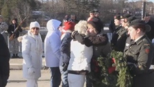 American Gold Star Mothers and Canadian Silver Cross families came together at the border Saturday morning to bridge a shared understanding of each other's loss.