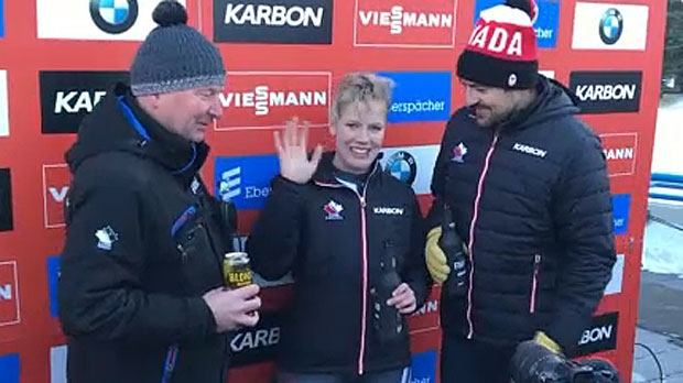 A pair of Canadian lugers, Alex Gough and Sam Edney, called it quits on Saturday with a ceremonial final run at Canada Olympic Park.
