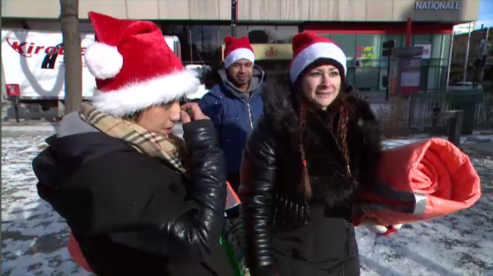 On Saturday, a group of Montrealers took to the streets to distribute care packages they raised money to assemble. Some packages even included supplies for homeless dog owners. (CTV Montreal)