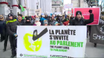 Marchers in Montreal are demanding the environment be the government's first priority, and say they are skeptical of Premier Francois Legault's early promises. (CTV Montreal)