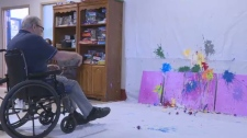 Youth and seniors team up in colourful art project
