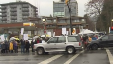 bus lane protest