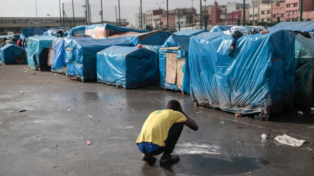 Morocco migrant camp
