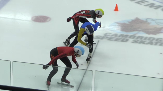 Speedskaters compete in Cambridge for a spot at the Canada Winter Games. (Dec. 9, 2018)