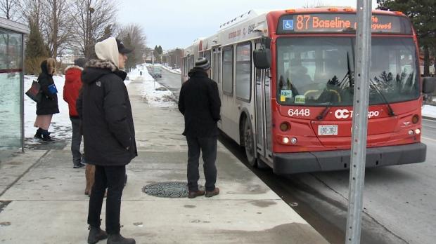 OC Transpo bus on December 9, 2018