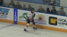 Ryan Merkley on the ice with the Guelph Storm. (Dec. 9, 2018)