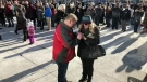 Marriage proposal at Christkindl Market