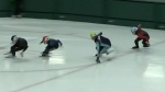 Fierce competition at Cambridge speedskating event