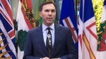 Morneau arrives in Ottawa for mini summit