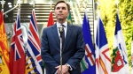 Minister of Finance Bill Morneau speaks to reporters before attending a working dinner with provincial and territorial Finance Ministers in Ottawa on Sunday, Dec. 9, 2018. THE CANADIAN PRESS/Justin Tang