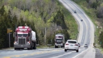Highway 104, the artery connecting mainland Nova Scotia to Cape Breton Island, is seen on Tuesday, May 24, 2016. (THE CANADIAN PRESS/Andrew Vaughan)