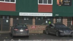 The Atlantic Compassion Club Society -- an illegal cannabis dispensary -- is seen on Main Street in Dartmouth.