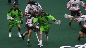 Zach Gould in actions with the Saskatchewan Rush