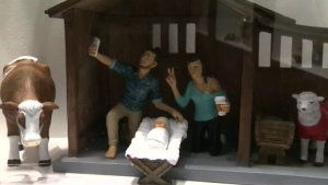 Modern nativity scene