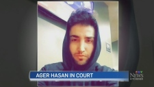 Accused killer Ager Hasan appears in court