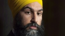 NDP Leader Jagmeet Singh speaks with the media following caucus on Parliament Hill in Ottawa, Wednesday November 28, 2018. THE CANADIAN PRESS/Adrian Wyld