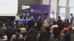 Minister of Status of Women Maryam Monsef speaks at Western University in London, Ont. on Monday, Dec. 10, 2018. (Gerry Dewan / CTV London)