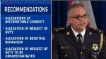 Details that were previously kept under wraps by a publication ban address conduct of Saint John Police Force.