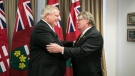 Ontario Premier Doug Ford meets with London Mayor Ed Holder in Toronto, Ont. on Monday, Dec. 10, 2018. (@FordNation / Twitter)