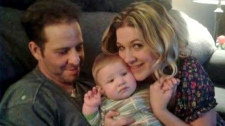 Undated photograph of Tyler Hogan, Austin Wright and Jasmine Wright